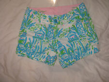 """Lilly Pulitzer Callahan 5"""" Inseam Shorts in Pink Blue  $64  Sz 0 MORE AVAIL!"""