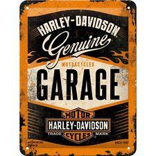 HARLEY-DAVIDSON® Licensed Tin Sign Garage Embossed Wall Decor Motorcycles Garage