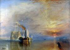 "1835 Joseph M.W Turner, Fighting Temeraire, Famous war ship,  20""x16"" CANVAS"