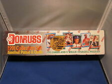 1991 DONRUSS BASEBALL PUZZLES & 792 CARDS MLB BOXED SET - NEW / SEALED CARDS