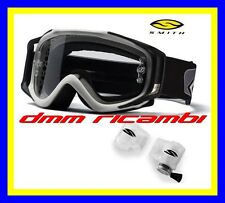 Occhiali Cross SMITH Fuel V2 Argento con Roll-Off casco lenti occhiale RollOff