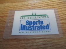 1987 Churchill Downs KENTUCKY DERBY - RUN FOR THE ROSES Laminated Tag ALYSHEBA