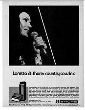 1976 LORETTA LYNN FIRST LADY OF COUNTRY SHURE MIC AD