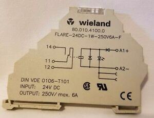 Wieland 80.010.4100.0 Relais Flare-24DC-1W-250V6A-F 24V Dc