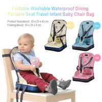 Foldable Baby Chair Bag Home Oxford Cloth Lunch Safety Belt Dining Portable Seat