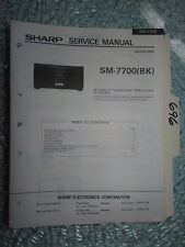 Optonica Sharp sm-7700 service manual original repair book stereo power amp