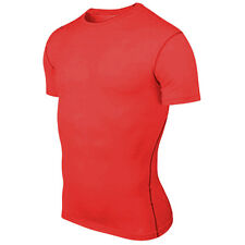 Men's Compression Under Base Layer Tee Tops Tights Short Sleeve Jerseys T-Shirts