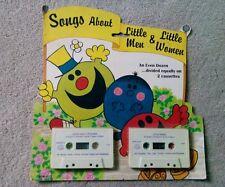 """Vtg/New Sealed 1982 Childrens """"Songs About Little Men & Little Women"""" Cassettes"""