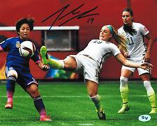 Julie Johnston Ertz Signed 8x10 Photo (JSA PSA Pass) World Cup USA Red Stars