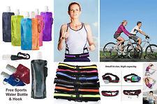 Gym Belt & Reusable Sports Water Bottle Running Cycling Pocket Mobile Money Keys