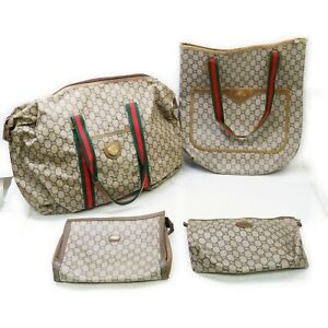 Gucci PLUS PVC Shoulder Bag Clutch 4 pieces set 519232