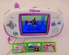 Leapfrog Leapster Explorer & 4 Games Kids Educational Game System Age 4-9
