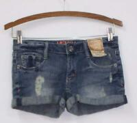 NWT Arizona Jean Co. Women's Lightly Distressed Denim Mini Jean Shorts Size 0