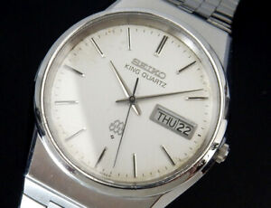 Working Seiko King Twin Quartz (Original Band) 1979 Vintage Mens Watch 9923 uhr