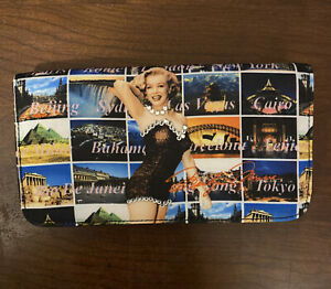 Marilyn Monroe Photo Collage Faux Leather Tri Fold Wallet New no tags
