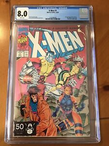 X-Men (1991) #1 CGC 8.0 White Pages Colossus Gambit Cover!