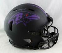Ray Lewis Signed Ravens F/S Speed Eclipse Authentic Helmet w/SB MVP-Beckett Auth