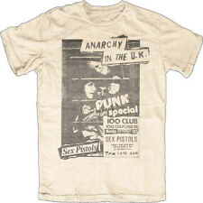 Sex Pistols-Anarchy In The UK-100 Club Punk Special-X-Large Natural T-shirt