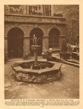 Graveyard of St. Ethelburga, Bishopsgate 1926 old vintage print picture