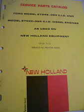 VINTAGE  NEW HOLLAND PARTS MANUAL -FORD ENGINES 363 & 380 CID  - 1972