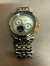 Citizen AP1015-57A Moon Phase Eco-Drive 8651 Caliber Gold & Silver Tone Watch