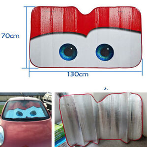 Cartoon Aluminium Foil Car Windshield Sun Visor Sunshade Big Eye Sunscreen Cover