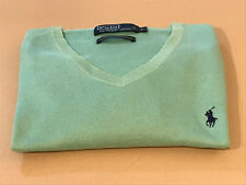 Polo Ralph Lauren Men's Slim-Fit Knitted Cotton Jumper, mint green size large.