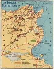 1937 Imprimerie Gaillac-Monrocq. Pictorial Map of Tunisia