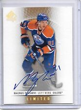 2012-13 SP Authentic MAGNUS PAAJARVI LIMITED ON CARD AUTO SP 1:500 PACKS OILERS!