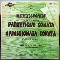 ALFRED  KITCHIN beethoven pathetique sonata LP VG+ RLP-199-6 Remington US 50s