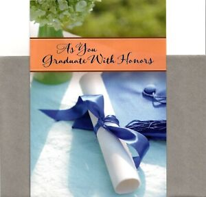 Congratulations Graduation As You Graduate With Honors Hallmark Greeting Card