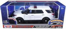 MOTOR MAX 1/18 2015 FORD POLICE INTERCEPTOR UTILITY WITH LIGHT & SOUND 73995