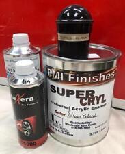 Gloss Black Gallon Kit Single Stage ACRYLIC ENAMEL Car Auto Paint Kit