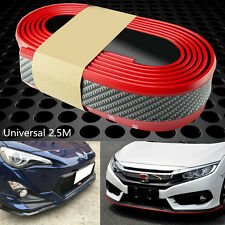 Car Front Lip Bumper 2.5M Carbon Fiber Strips Protection Decor Sticker Styling
