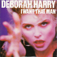 "DEBORAH HARRY  I Want That Man (BLONDIE) PICTURE SLEEVE 7"" 45 rpm vinyl record"