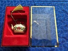 Nib Lenox Holiday Ornament Tea Kettle Holly Leaves 6141618 Orig $29