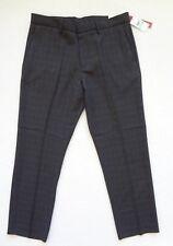 PERRY ELLIS Viaje LUXE Pantalón Elegante Hombre Corte Moderno Gris Talla 34x30