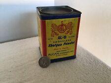 Vintage Alcan Hunting Al-8 Smokeless Gun Powder Tin Empty