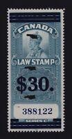 Canada VD #FSC19 (1935) $30 on $1 King George V SUPREME COURT Law Revenue Used