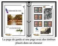 Album de timbres à imprimer TERRITOIRE DES L'ININI