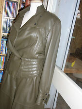 "TAILLEUR veste jupe CUIR VINTAGE 80 ""Roberto Fabris Paris""  LEATHER SKIRT SUIT"