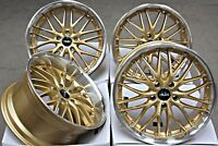 "18"" ALLOY WHEELS 18 INCH ALLOYS CRUIZE 190 GDP GOLD POLISHED LARGE DEEP DISH"