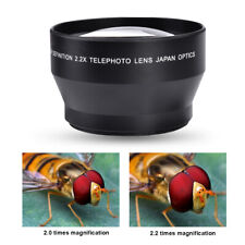 67mm 2.2x Telephoto Lens Teleconverter fit for Canon Nikon Sony Camera 18-135mm