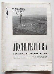 Architettura Rivista sindacato fascista n. 5 1941 Piacentini Pasquale Carbonara