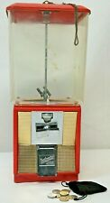 Vintage Northwestern 5 Cent Peanut Gumball Machine D03660 With Key & Coins