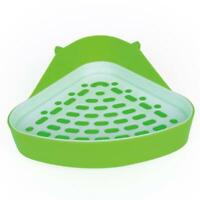 Small Animal Toilet Corner Potty, Rabbit Toilet Litter Tray Litter Tray Hot P5T3