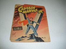 Mighty Midget Comics #11 Captain marvel Jr. 1942 Rare Full Color Ad On Back GD.