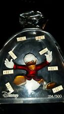 Vintage Disney Scrooge McDuck in Acrylic Money Bag Playing with Money, Lucite