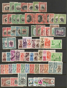 NORTH BORNEO SABAH MALAYSIA selection of good used issued 1909 to 1965