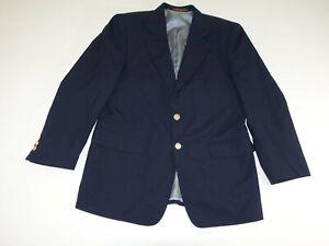 Petrocelli Mens Sport Coat Size 40 Regular Navy Blue 40R 100% Wool Blazer Jacket